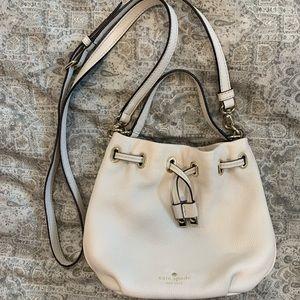 Cream Kate Spade Bucket Bag Crossbody